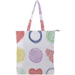 Geometry Euclidean Vector Double Zip Up Tote Bag