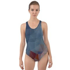 Triangle Geometry Trigonometry Cut Out Back One Piece Swimsuit