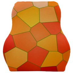 Background Pattern Orange Mosaic Car Seat Velour Cushion