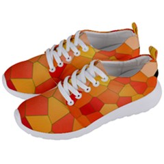 Background Pattern Orange Mosaic Men s Lightweight Sports Shoes by Mariart