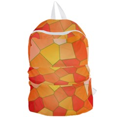 Background Pattern Orange Mosaic Foldable Lightweight Backpack by Mariart
