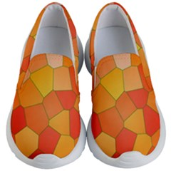 Background Pattern Orange Mosaic Kid s Lightweight Slip Ons by Mariart