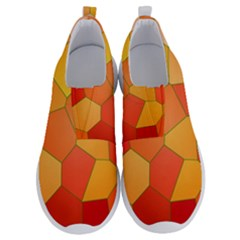 Background Pattern Orange Mosaic No Lace Lightweight Shoes by Mariart