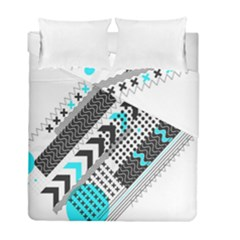 Green Geometric Abstract Duvet Cover Double Side (full/ Double Size)