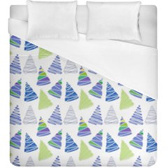 Christmas Pattern Background Duvet Cover (king Size) by Jojostore