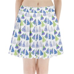 Christmas Pattern Background Pleated Mini Skirt