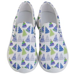 Christmas Pattern Background Men s Lightweight Slip Ons by Jojostore