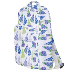 Christmas Pattern Background Double Compartment Backpack