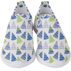 Christmas Pattern Background Kids  Slip On Sneakers