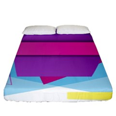 Geometric Shape Fitted Sheet (queen Size)
