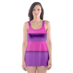 Geometric Shape Skater Dress Swimsuit by Jojostore
