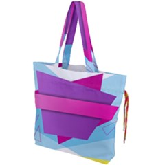 Geometric Shape Drawstring Tote Bag by Jojostore