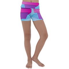 Geometric Shape Kids  Lightweight Velour Yoga Shorts