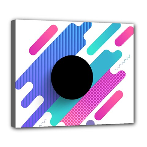 Cool Geometric Combination Of Decorative Circular Vector Background Deluxe Canvas 24  X 20  (stretched)