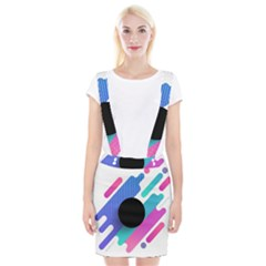 Cool Geometric Combination Of Decorative Circular Vector Background Braces Suspender Skirt