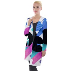 Cool Geometric Combination Of Decorative Circular Vector Background Hooded Pocket Cardigan