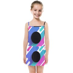 Cool Geometric Combination Of Decorative Circular Vector Background Kids Summer Sun Dress