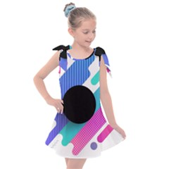 Cool Geometric Combination Of Decorative Circular Vector Background Kids  Tie Up Tunic Dress