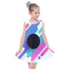 Cool Geometric Combination Of Decorative Circular Vector Background Kids  Summer Dress