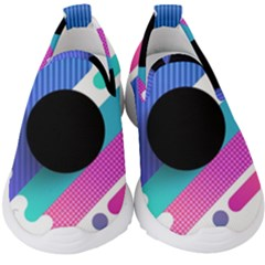 Cool Geometric Combination Of Decorative Circular Vector Background Kids  Slip On Sneakers by AnjaniArt