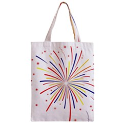 Graphic Fireworks Decorative Zipper Classic Tote Bag