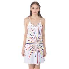 Graphic Fireworks Decorative Camis Nightgown