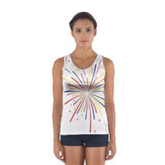 Graphic Fireworks Decorative Sport Tank Top  by AnjaniArt