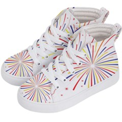 Graphic Fireworks Decorative Kid s Hi-top Skate Sneakers by AnjaniArt