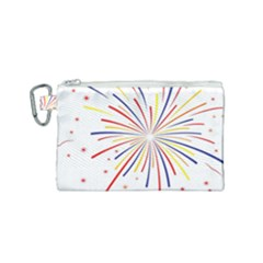 Graphic Fireworks Decorative Canvas Cosmetic Bag (small)