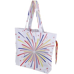 Graphic Fireworks Decorative Drawstring Tote Bag by AnjaniArt