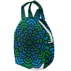Green Blue Mandala Vector Travel Backpacks by Alisyart