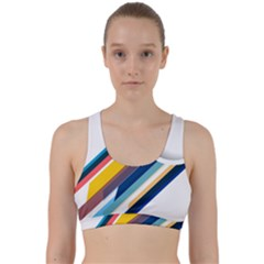 Vector Geometric Polygons And Circles Back Weave Sports Bra