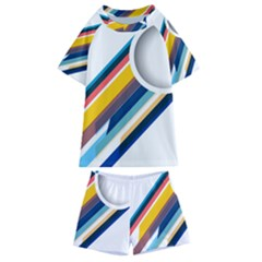 Vector Geometric Polygons And Circles Kids  Swim Tee And Shorts Set