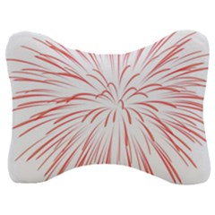 Red Firework Transparent Velour Seat Head Rest Cushion by Jojostore