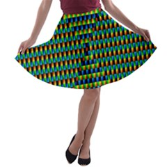 Kaleidoscope Art Unique A-line Skater Skirt by AnjaniArt