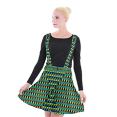 Kaleidoscope Art Unique Suspender Skater Skirt