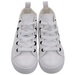 Christmas Bokeh Star Advent Kid s Mid Top Canvas Sneakers