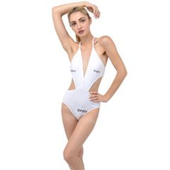 Background Christmas Advent Plunging Cut Out Swimsuit by Sapixe