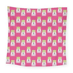 Ghost Pet Pink Square Tapestry (large)