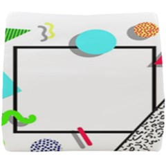 Abstract Geometric Triangle Dots Border Seat Cushion by Alisyart