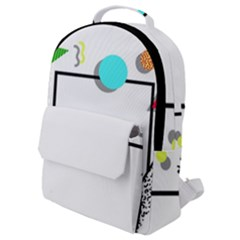 Abstract Geometric Triangle Dots Border Flap Pocket Backpack (small)