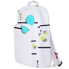 Abstract Geometric Triangle Dots Border Double Compartment Backpack