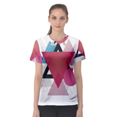 Geometric Line Patterns Women s Sport Mesh Tee