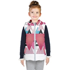 Geometric Line Patterns Kid s Hooded Puffer Vest