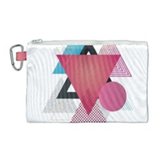 Geometric Line Patterns Canvas Cosmetic Bag (large) by Mariart