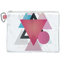 Geometric Line Patterns Canvas Cosmetic Bag (xxl) by Mariart