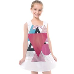 Geometric Line Patterns Kids  Cross Back Dress by Mariart