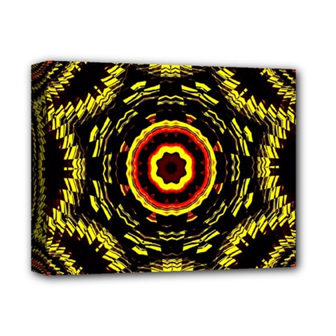 Mosaic Yellow Star Deluxe Canvas 14  X 11  (stretched) by Jojostore