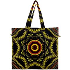 Mosaic Yellow Star Canvas Travel Bag by Jojostore