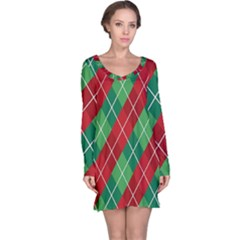 Christmas Triangle Long Sleeve Nightdress